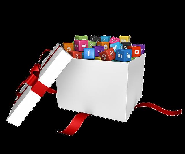 sociální média jako dárek