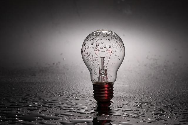 žárovka déšť