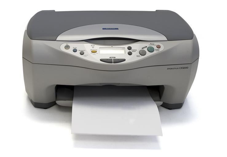 tiskárna s vyplazeným jazykem