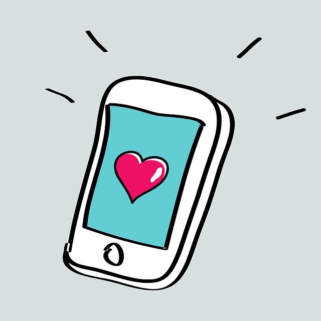 mobilní telefon jako srdcová záležitost