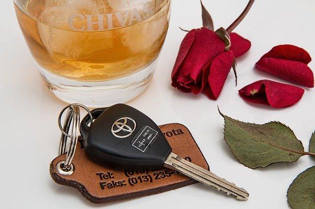alkohol a klíčky