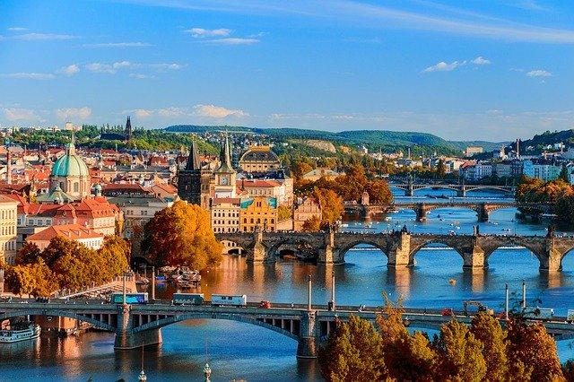 panorama Prahy – mosty