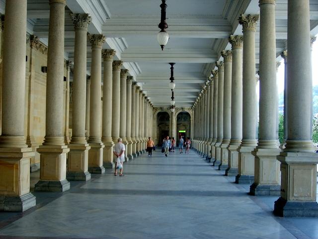 kolonáda v Karlových Varech
